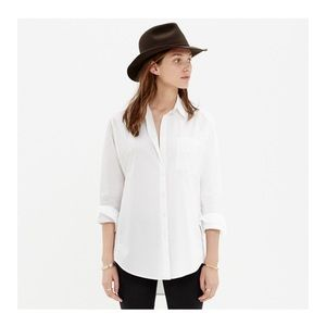 madewell oversized button down white shirt